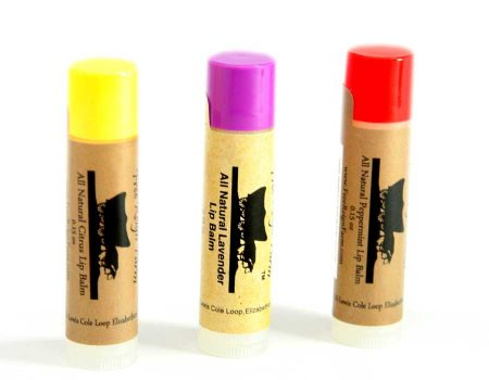 natural shea butter citrus lip balm
