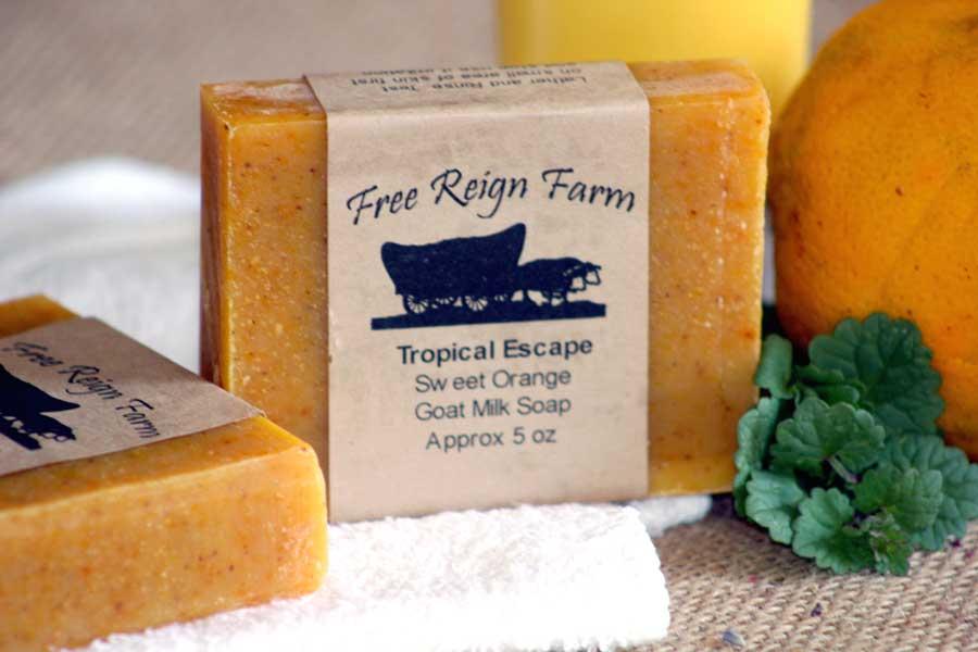 Orange goat milk soap