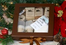 An amazing gift set that includes our best selling goat milk soaps, natural deodorant, natural lotion, natural laundry detergent, herbal salve, lip balm.
