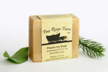 Special soap designed to be used after poison ivy exposure.