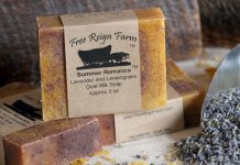 goat milk soap lavender lemongrass
