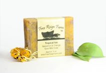 Spearmint and orange goat milk soap
