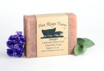 delightful lavender & spearmint goat milk soap