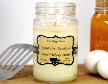 Appalachian Breakfast Wood Wick Soy Candle