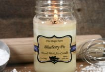 Blueberry Pie Wood Wick Soy Candle