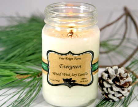 Free Reign Farm Soy Wood Wick Candles