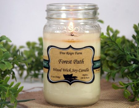 Forest Path Wood Wick Soy Candle