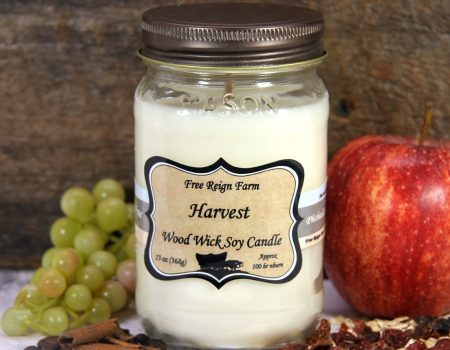 Free Reign Farm Harvest Wood Wick Candle