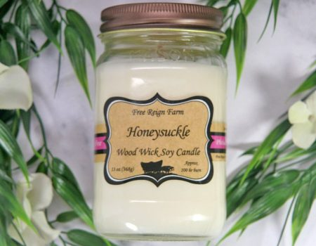 Honeysuckle Wood Wick Soy Candle