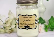 Jasmine Wood Wick Soy Candle