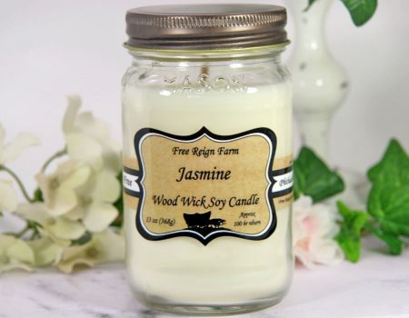 Jasmine Wood Wick Soy Candle