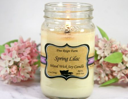 Spring Lilac Wood Wick Candle