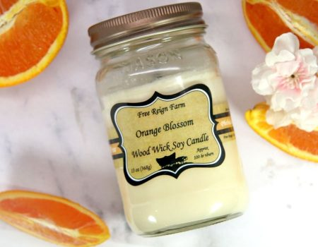 Free Reign Farm Orange Blossom Wood Wick Candles