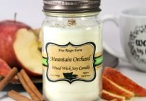 Mountain Orchard Wood Wick Candles