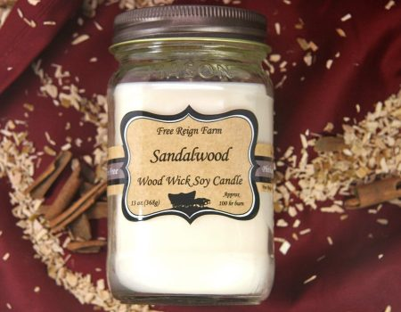 Free Reign Farm Sandalwood Wood Wick Soy Candle