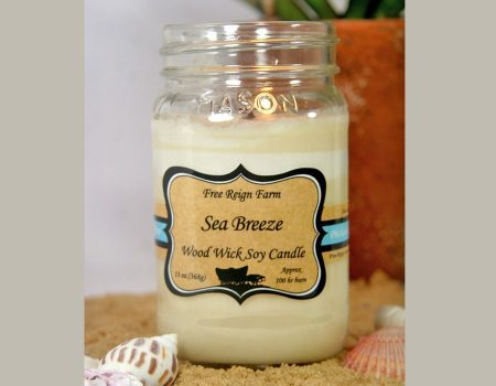 Free Reign Farm Sea Breeze Soy Wood Wick Candles