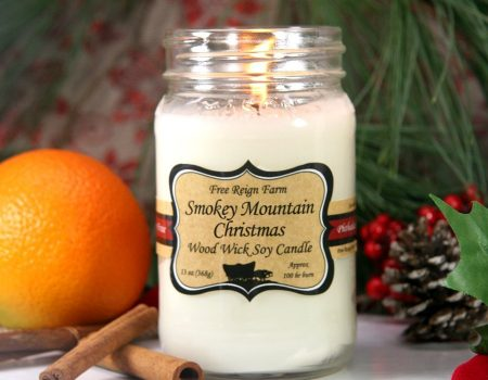 Free Reign Farm Smokey Mountain Christmas Wood Wick Soy Candle
