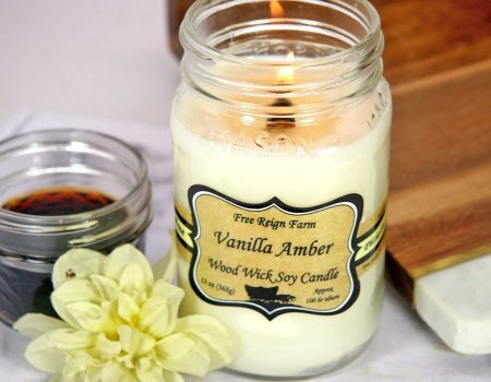 Free Reign Farm Vanilla Pumpkin Soy Wood Wick Candle